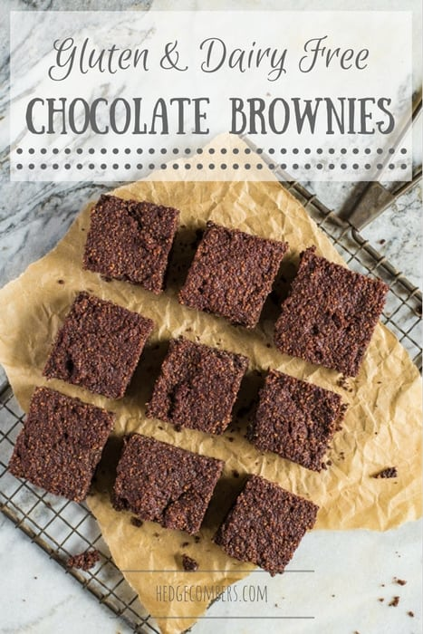 Dairy and Gluten Free Chocolate Brownies