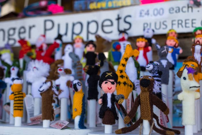 Cute finger puppets for sale at The Big Feastival 2017