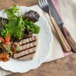 Pan Griddled Tuna with Salsa Roca
