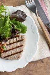 Pan Griddled Tuna with Salsa Roca