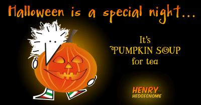 Children's books   Henry the Hedgegnome   Halloween pumpkin