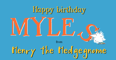 Children's books | Henry the Hedgegnome | Happy birthday - Myles