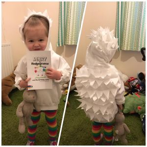 Eira as Henry the Hedgegnome - World Book Day 2017