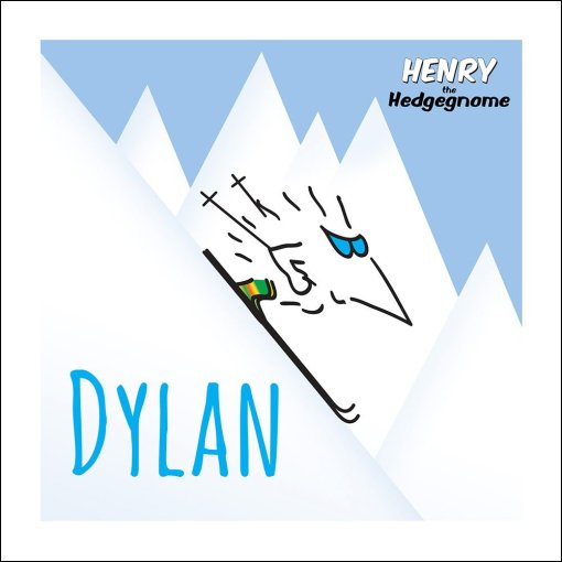 Henry the Hedgegnome print - Ski