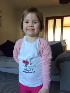 Jessica in Henry the Hedgegnome T-shirt - World Book Day 2017