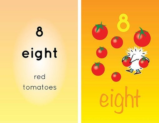 Children's books   Henry the Hedgegnome loves numbers 8 tomotoes