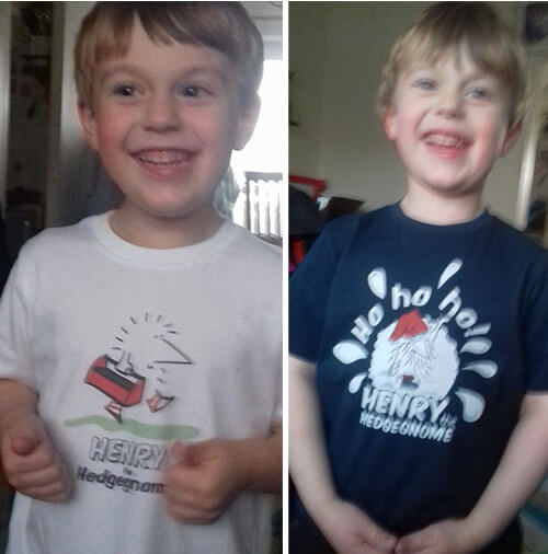 Children's books | Jack in Henry the Hedgegnome t-shirts