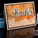 Alcohol backgrounds and Vellum Florals