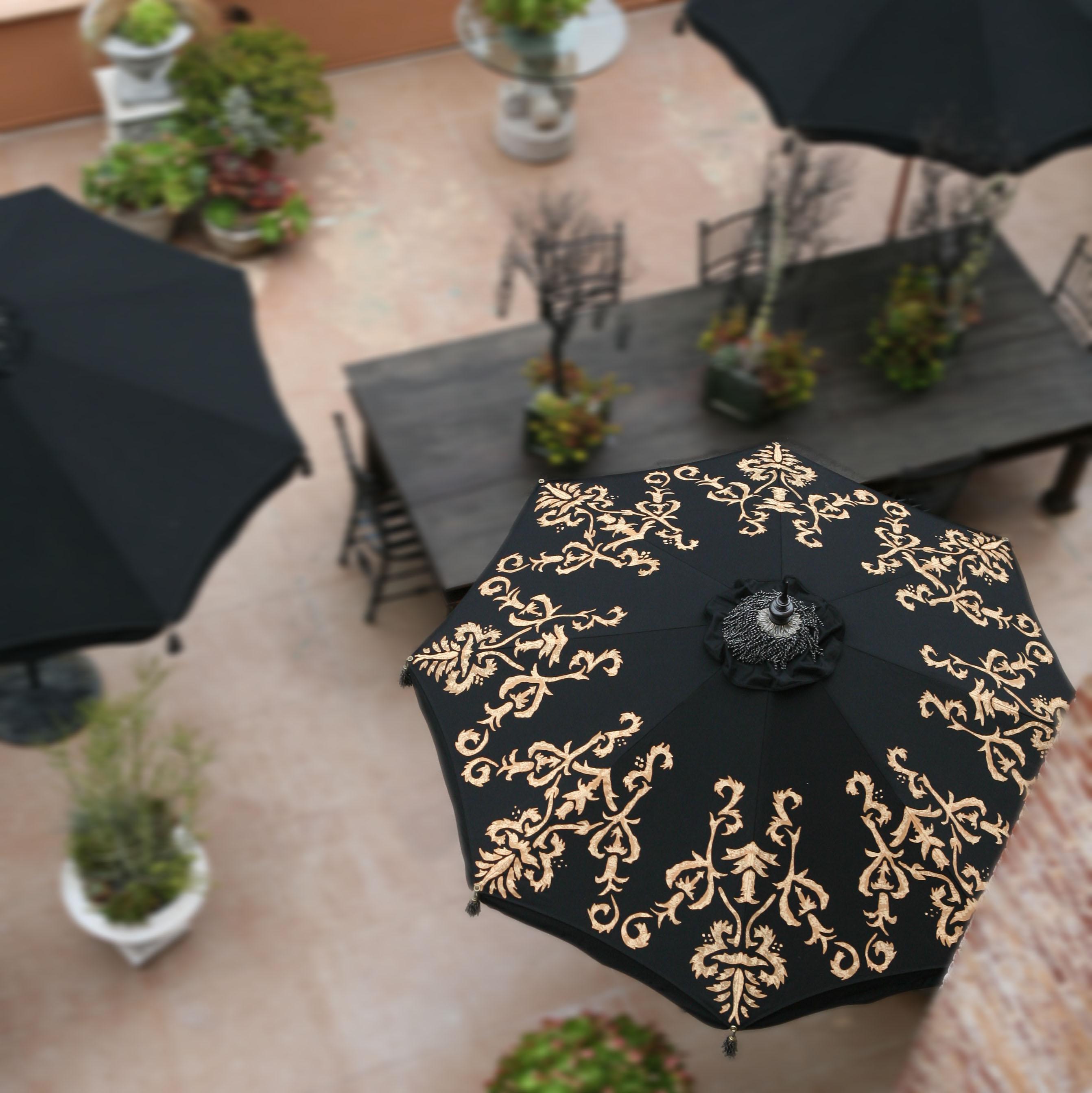 patio umbrella painted