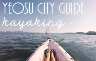 Yeosu City Guide // Kayaking Locations