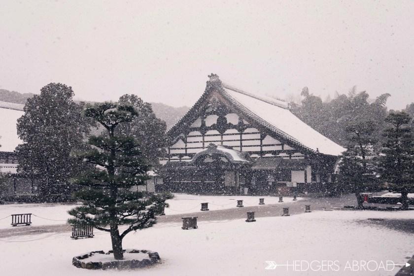 tofukuji temple kyoto snow