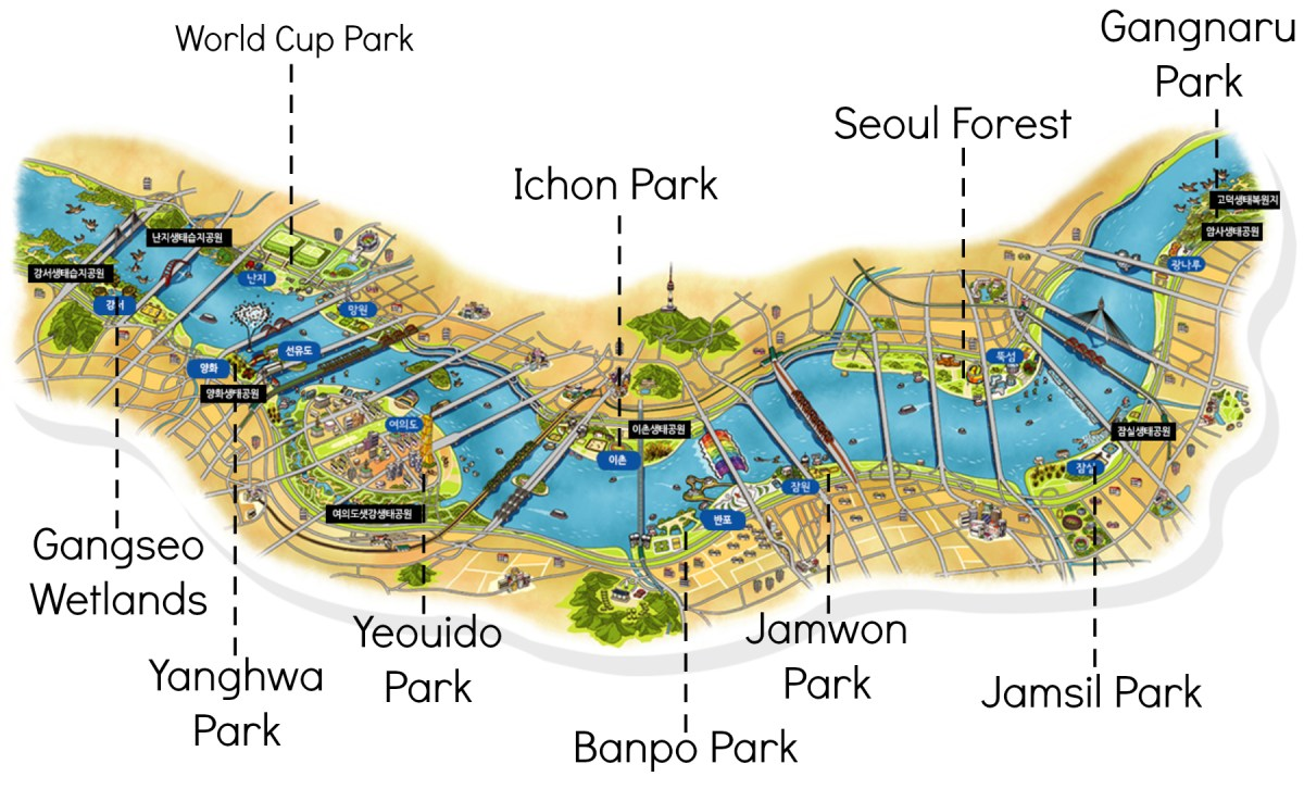 Han River Parks English Map
