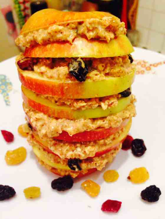Apple Oatmeal Tower