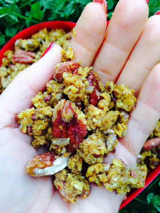 Pumpkin and pecan granola