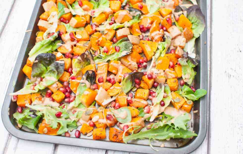 Clean eating butternut squash salad 8