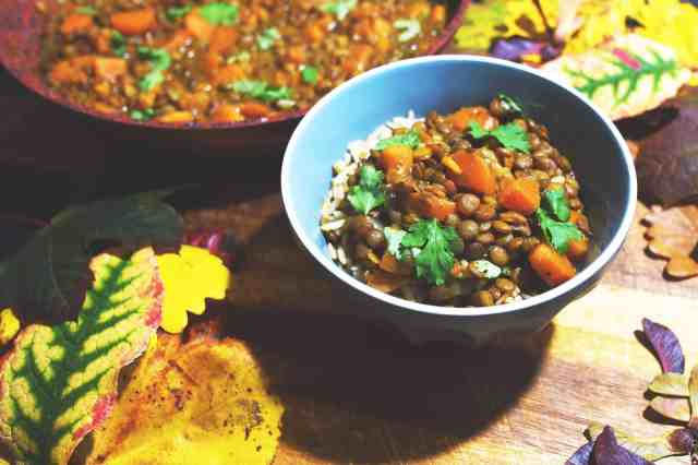 Sweet potato and lentil curry recipe made simple, tasty, filling and perfect for those cold nights #vegan #dairyfree #glutenfree