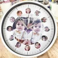 12 li Resimli Duvar Saati 29cm (Ortası Resimli)