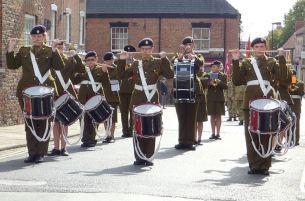 Cadet drummers Civic Sunday 2014
