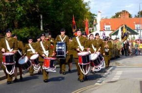 Drummers lead the Parade