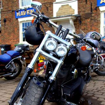 Bike outside Haven Arms snip