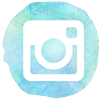 watercolor styled instagram icon