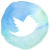 watercolor styled twitter icon