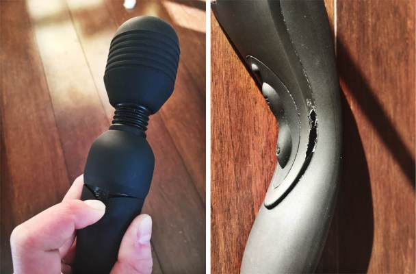 Vibratex Mystic Wand Rechargeable - Close up of product defects - Hedonish.com