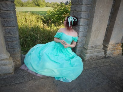 The making of chiffon ball gown