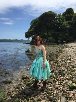 Sea Green Mermaid Dress Tutorial 16