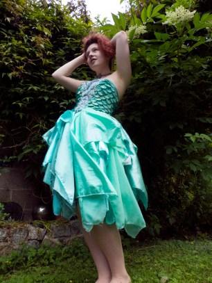 Sea Green Mermaid Dress Tutorial 4