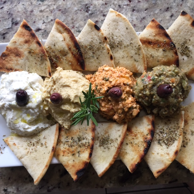 Poseidon greek pita hummus spicy feta