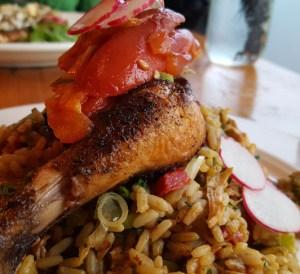 acadia review, acadia chicken, acadia portland, chicken jambalaya