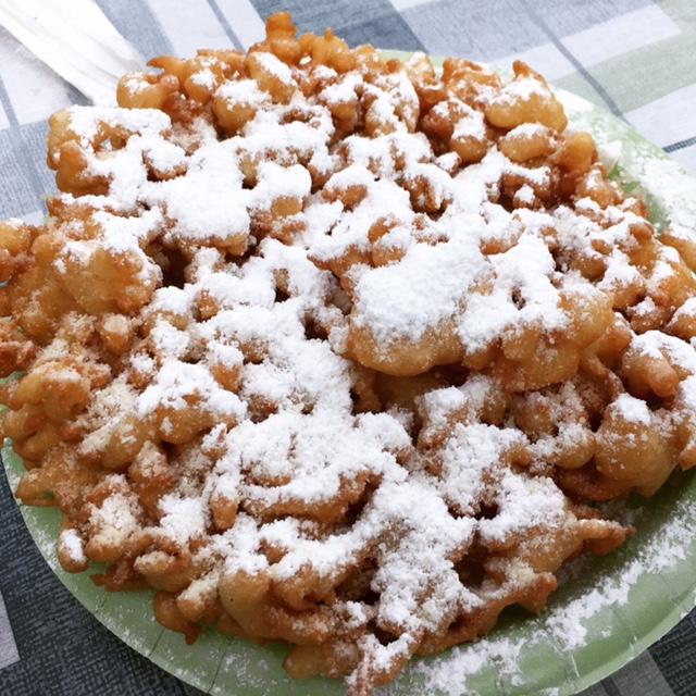 honey nut cheerios funnel cake