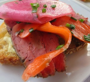swank table - House Made Seminole Beef Pastrami with Pickled Farm Veggies
