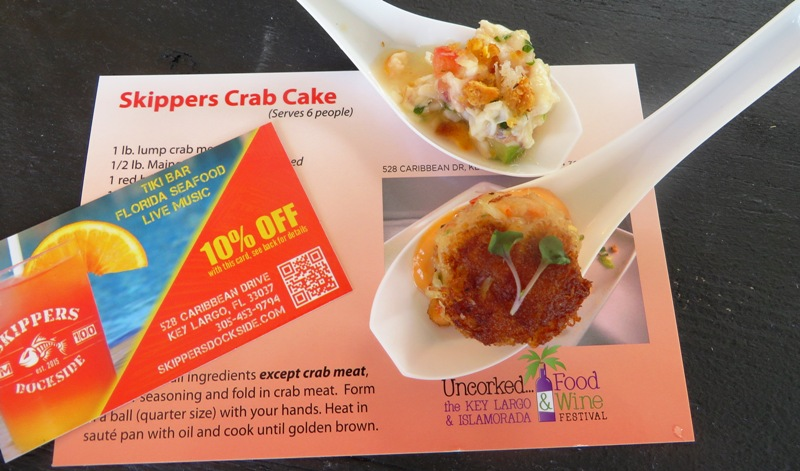 Key Largo Food and Wine Festival - Pelican Cove Resort - Skippers Island Ceviche and Crab Cakes