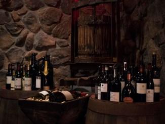 NJWFF Crystal Springs Wine Cellar empty bottles