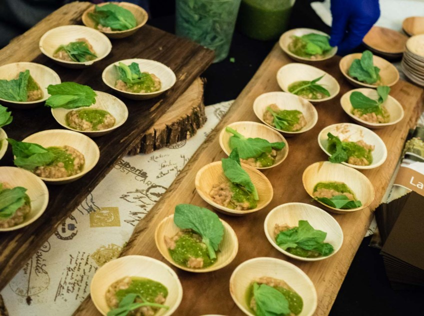 Grand tasting NJWFF hotel du village smoked duck risotto