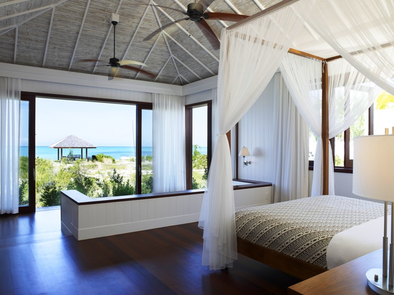 Spring Break Vacation - Tamarind_bedroom_with_beach_view - courtesy of Parrot Cay Estates by COMO