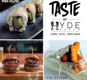 taste at hyde beach miami - courtesy of sls south beach