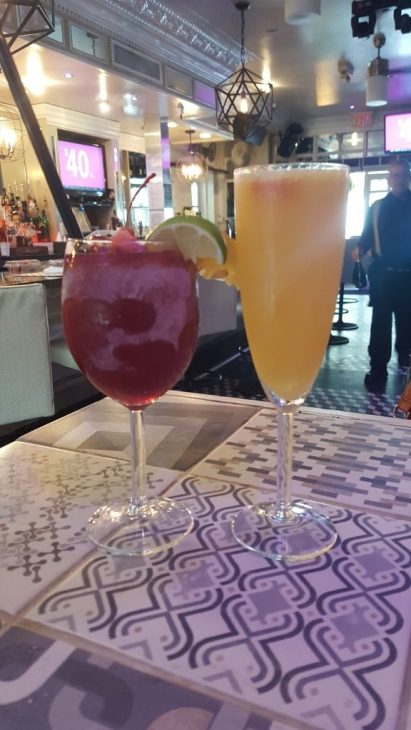 mimosa and frozen sangria at Dolores But You Can Call Me Lolita