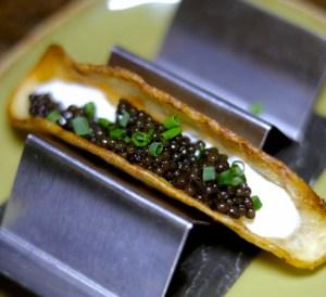 Dining in the Dark Miami Caviar Taco