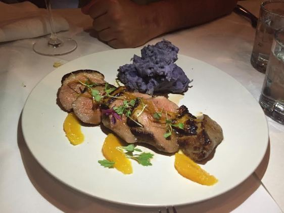 Duck and Blue Mashed Potatoes at Midtowny Oyster Bar