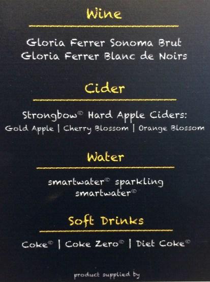 menu: cider
