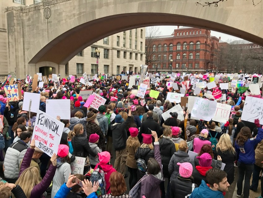 Women's March Positive Crowd
