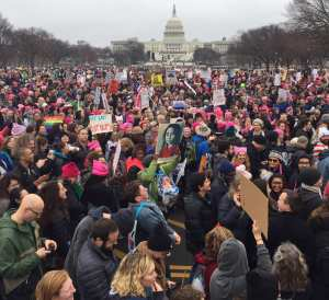 Women's March White House Lawn