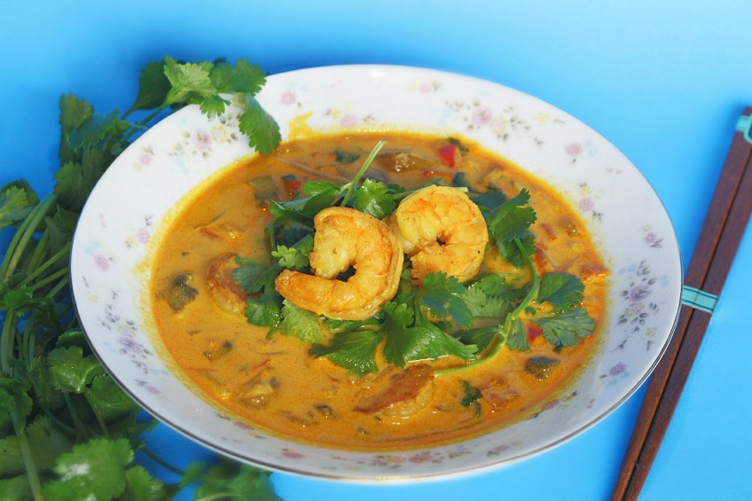 Vidalia Chop Wizard Shrimp Curry Soup