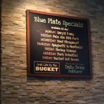 Rusty Bucke Specials Menu
