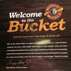 Rusty Bucket Menu