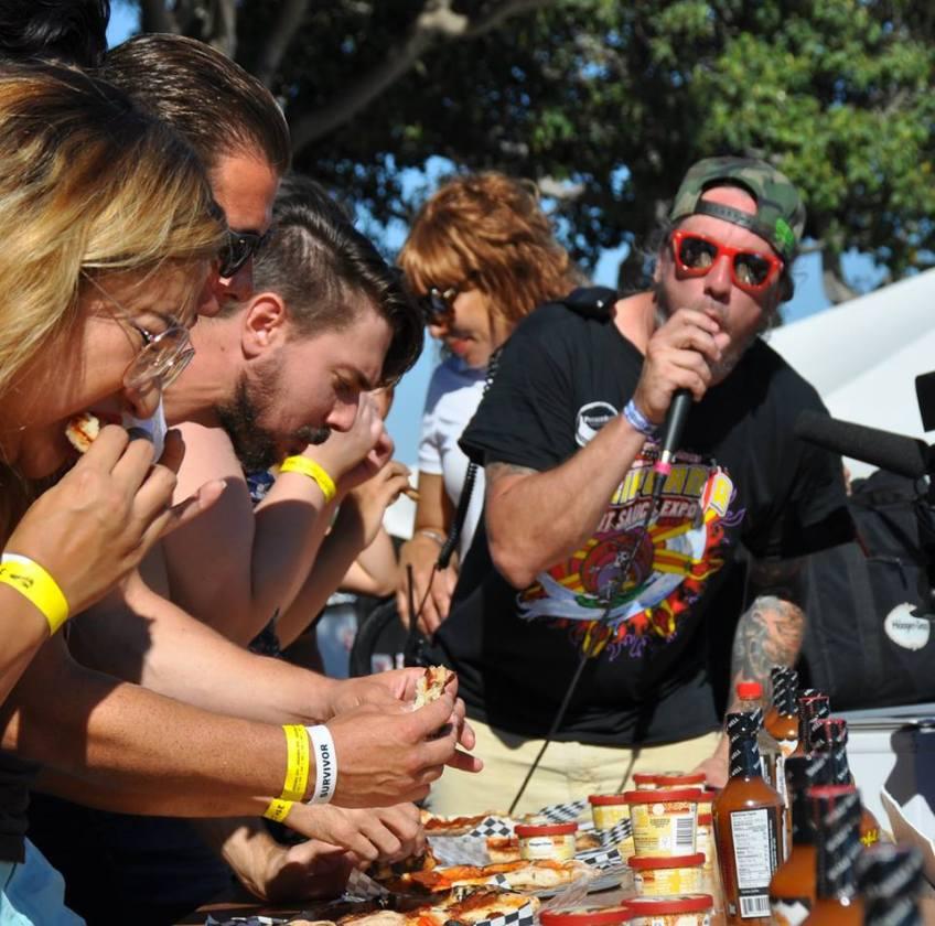 California Hot Sauce Expo contest Pizza go