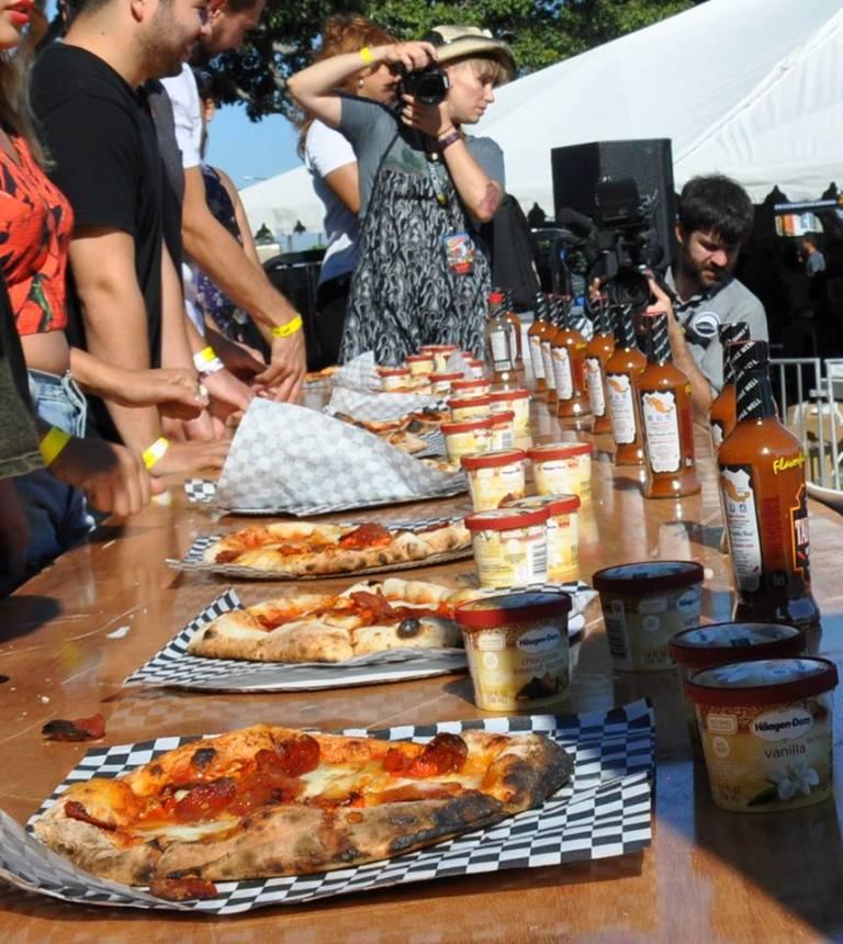 California Hot Sauce Expo contest Pizza